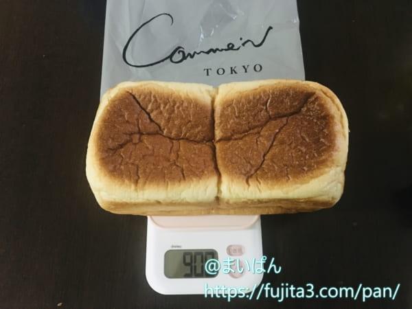 「コム・ン」のパンドミは2斤で900gでした
