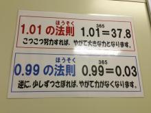 1.01の法則 毎日1%の成長を1年続けると、38倍もの力に!