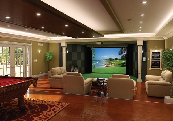 自宅にゴルフ場がある生活、憧れませんか!? シミュレーションゴルフがあると実現します!