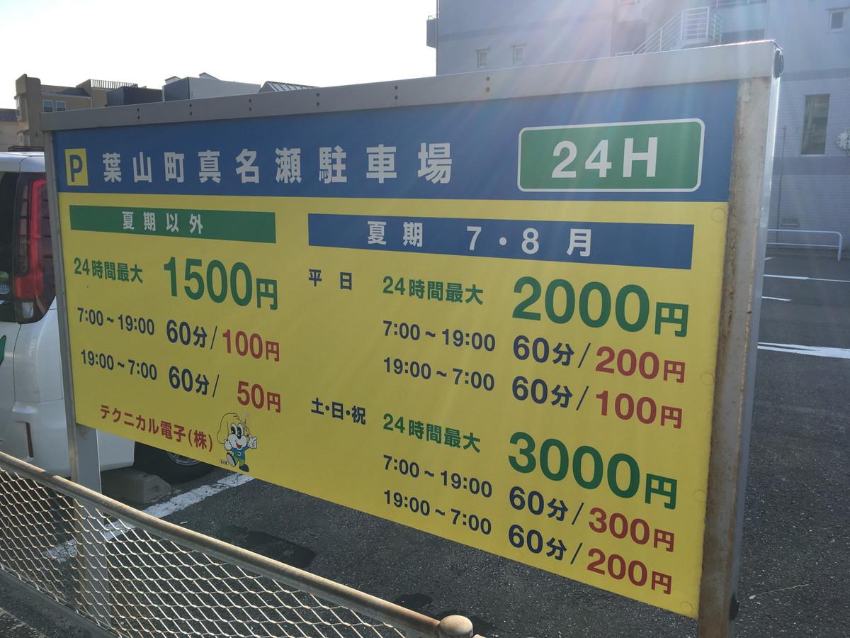 真名瀬駐車場 | 森戸海岸・葉山で駐車場料金を安く抑えたいなら、間違いなくココが一番お得!