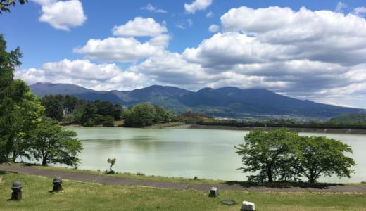 芸術むら公園 マレットゴルフ場で親子ラウンド|明神池と信州の山と新緑が気持ちいいコース!