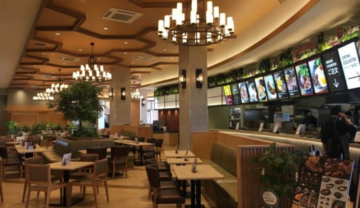 フードコートのグルメ情報│スパジアムジャポン内の飲食店、お店の種類やメニュー、実際に食べてみた感想は?