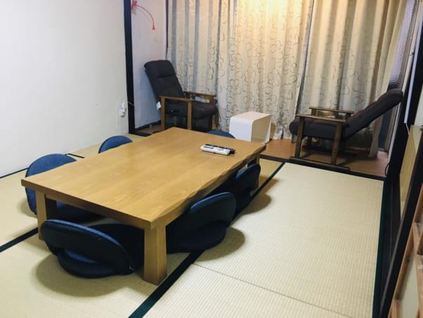 松江ゲストハウスの共用スペース