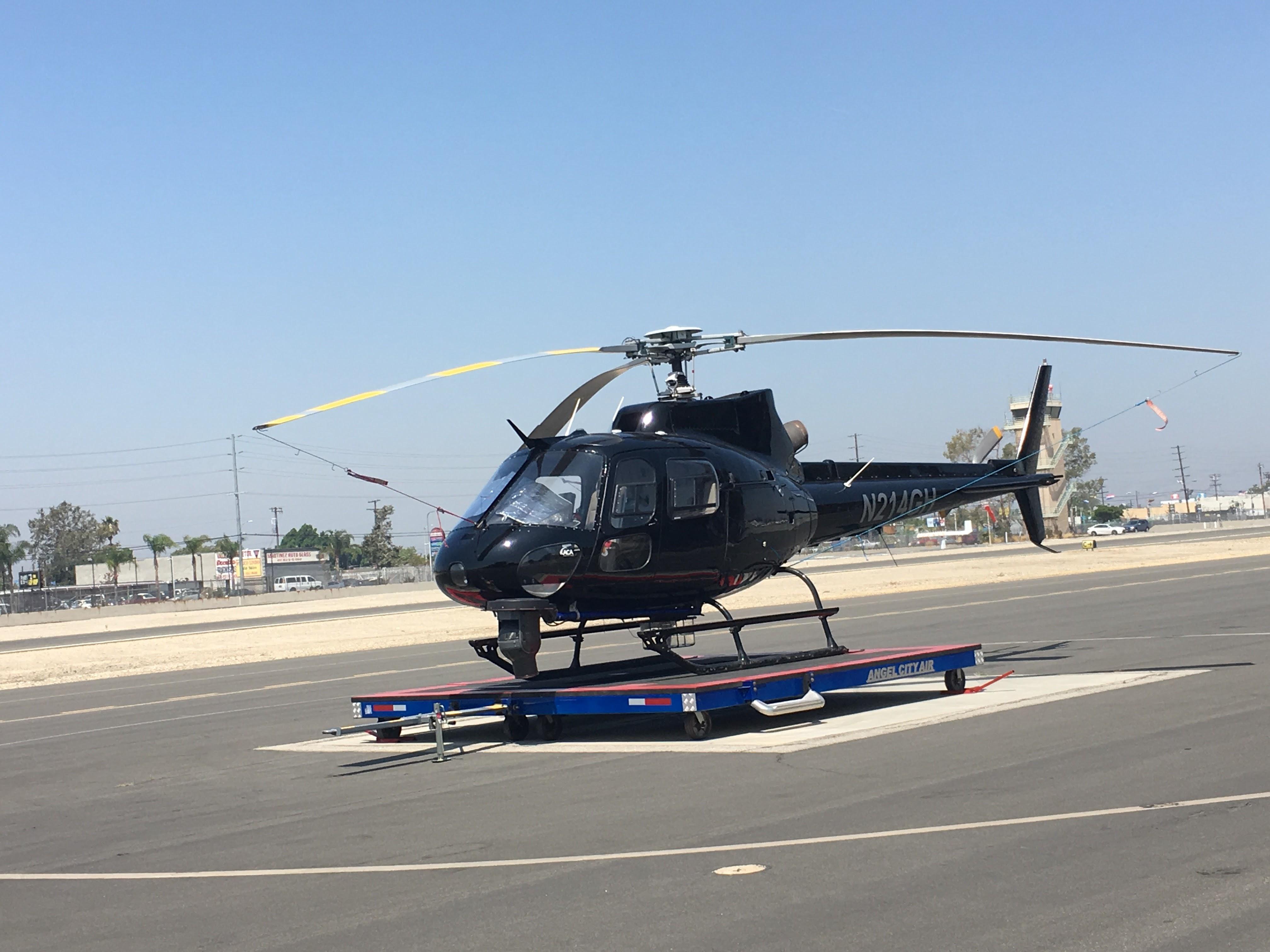 ヘリコプターでロサンゼルス観光...