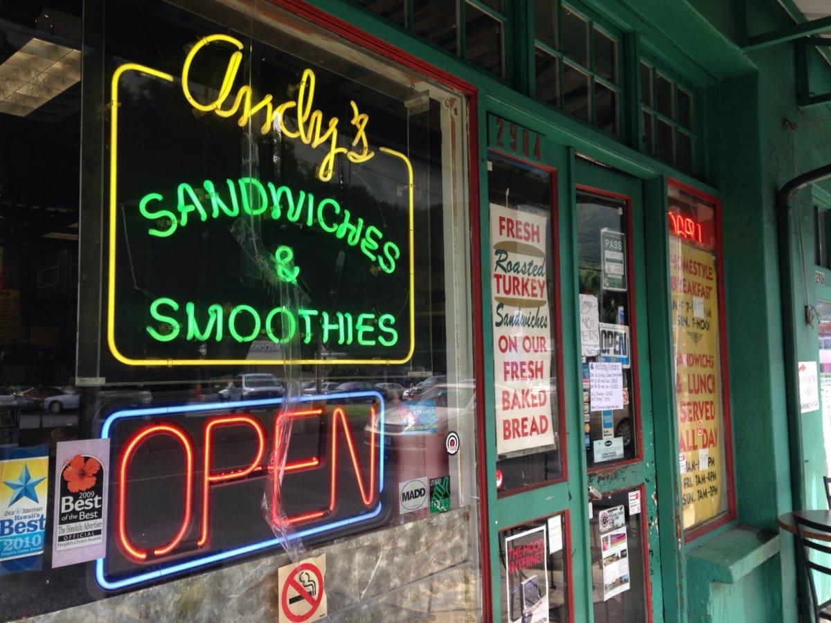 アンディーズ サンドイッチズ&スムージーズ│ハワイ・マノアにある、日本とは一味異なるサンドイッチ屋さんが絶品!