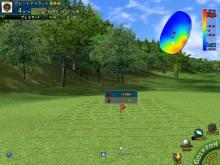 シミュレーションゴルフ、上り下りのどちらのパットかを一瞬で見分ける方法
