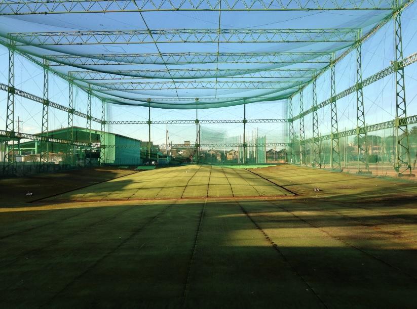 新座ゴルフクラブ ライン出しの練習にピッタリなショートコース、ゴルフ練習場編