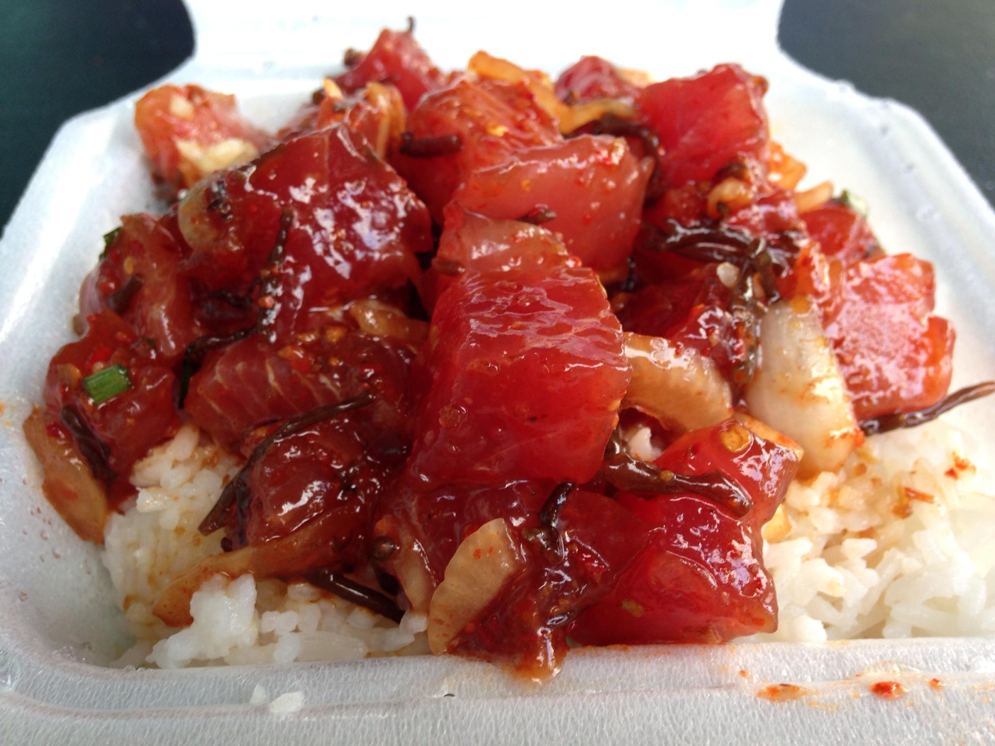 Ono Seafood(オノシーフード)、ハワイ名物のポキ丼はあまりに美味、食べた後にテイクアウトして仲間にもシェアしました!