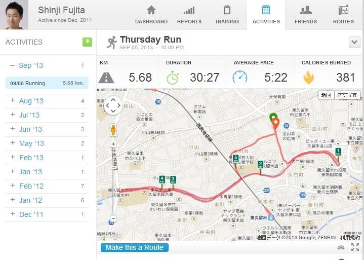 小平智プロも毎日欠かさないランニングを見習い、週一回の6kmラン!