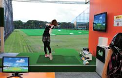 テレビ東京ワールドビジネスサテライト「トレたま」で、準優勝のゴルフシミュレーター